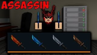 PLAYING WITH THE OLD ELEMENT KNIVES! (Roblox Assassin)