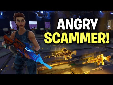 Insanely ANGRY Kid! Loses Whole Inventory (Scammer Get Scammed) Fortnite Save The World thumbnail