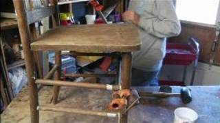 How To Repair & Restore An Old Chair : How To Clamp The Chair
