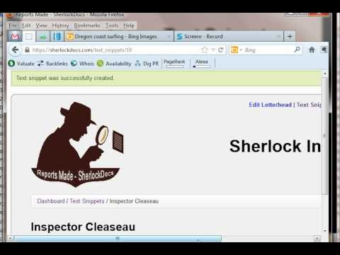 SherlockDocs - Report Writing Software for Private