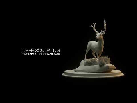 Zbrush Deer Sculpting Timelapse
