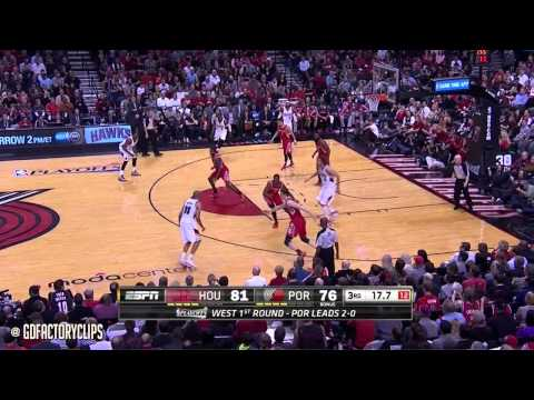 Nicolas Batum & Mo Williams Full Combined Highlights vs Rockets - 2014 Playoffs West R1G3