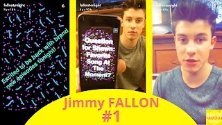 Jimmy Fallon with Shawn Mendes - snapchat - july 11 2016