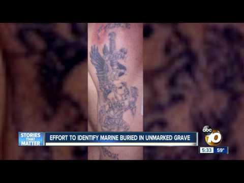 Effort to identify Marine buried in unmarked grave