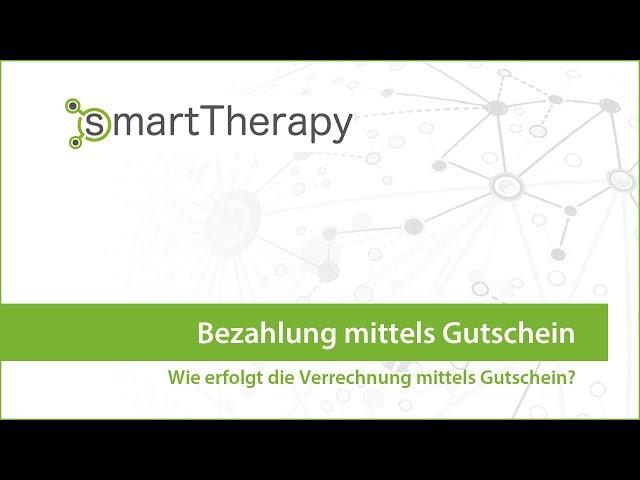 smartTherapy: Bezahlung mittels Gutschein
