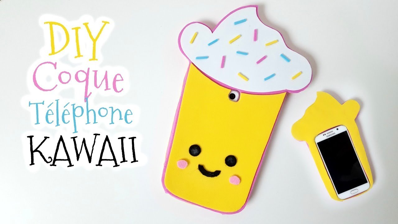 diy comment fabriquer une coque telephone kawaii phone case youtube. Black Bedroom Furniture Sets. Home Design Ideas