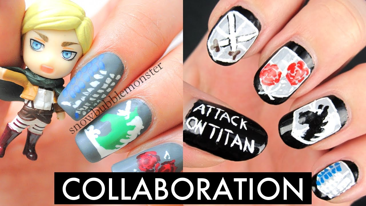 Attack on Titan • Toothpick Nail Art [Collab with NailArtOnline ...