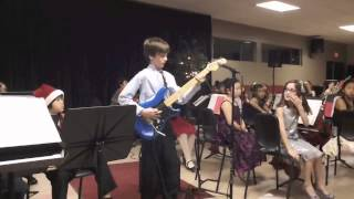 "10 yr old playing ""Eruption"" by Eddie VanHalen"