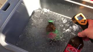 Extreme heat ice test  Kong Coolers Kong 50