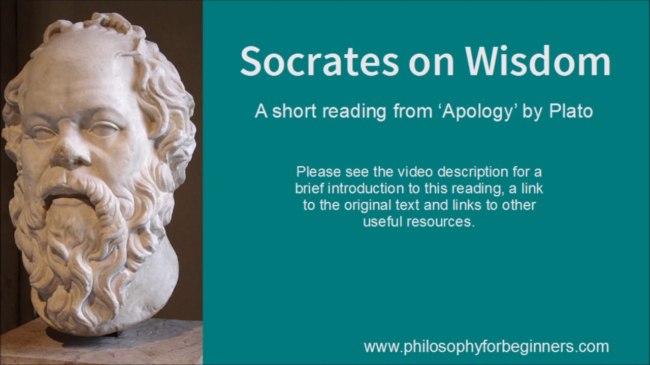 socrates on wisdom a short reading from the apology by plato  socrates on wisdom a short reading from the apology by plato