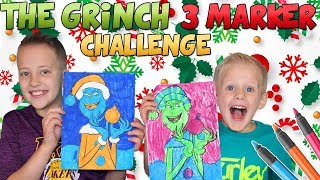 The Grinch 3 Marker Challenge!