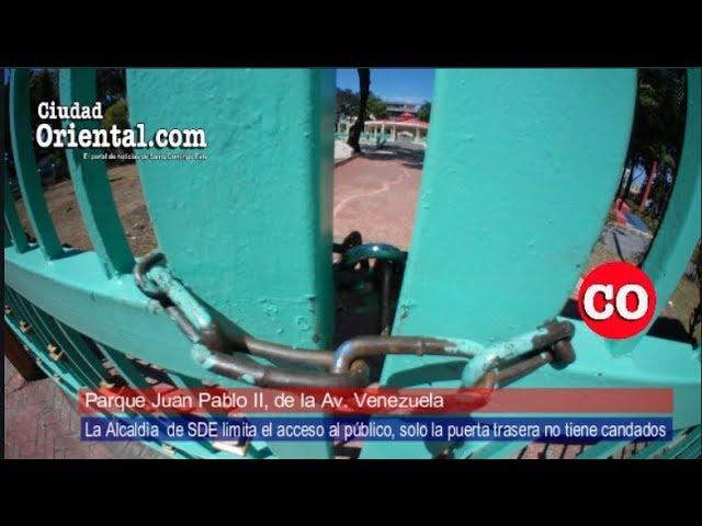 ASDE limita acceso al Parque de la avenida Venezuela