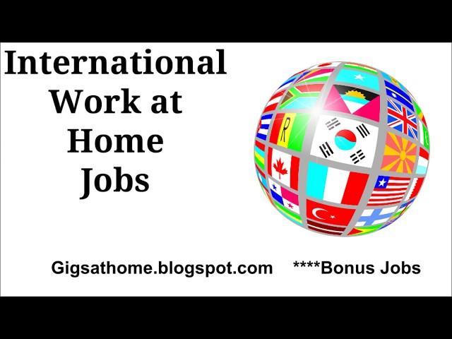 International  Based Remote Jobs WFH