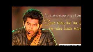Sunn Raha Hai Na Tu Karaoke With Lyrics | Aashiqui 2 | Hindi Karaoke