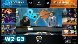 Video Cloud 9 Academy vs Echo Fox Academy | Week 2 of S8 NA Academy League Spring 2018 | C9A vs FOXA download MP3, 3GP, MP4, WEBM, AVI, FLV Agustus 2018
