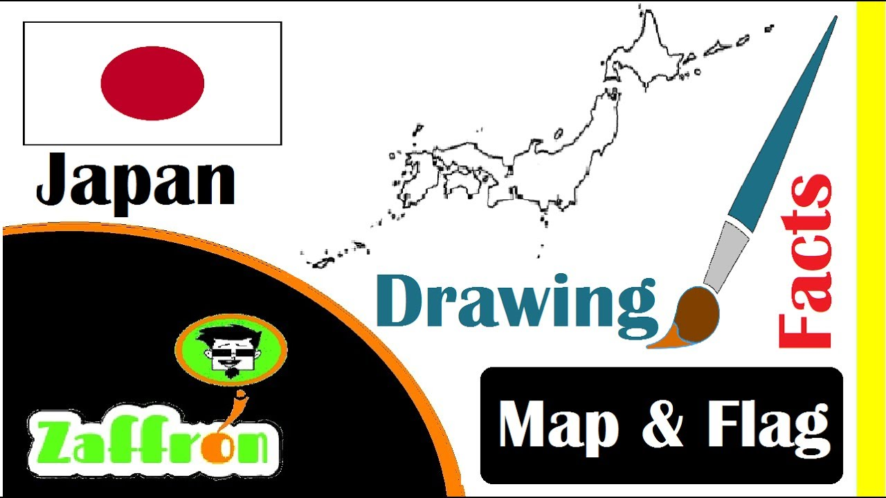 Learn Japan Country Facts Geography Map Flag Drawings حقائق - Japan map facts