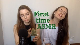 ASMR: Trying to give my friend ASMR. Tingle test!