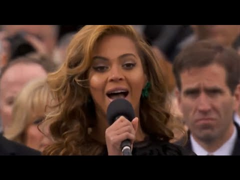 Beyonce mimes the national anthem at Barack Obama's inauguration | Channel 4 News