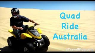 Quad Riding at Stockton Sand Dunes, Australia