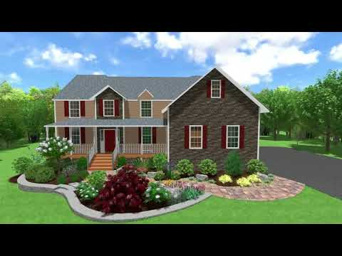 Front Landscaping and walkway New Paltz NY