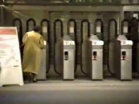 Paris Metro train rides 1988