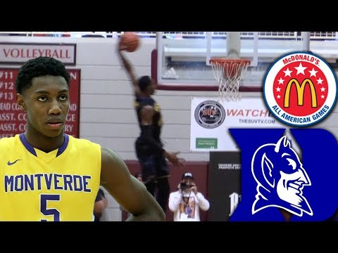 #1 Player in The COUNTRY 17 Year Old RJ Barrett is A McDonald's All American!!! Duke Commit