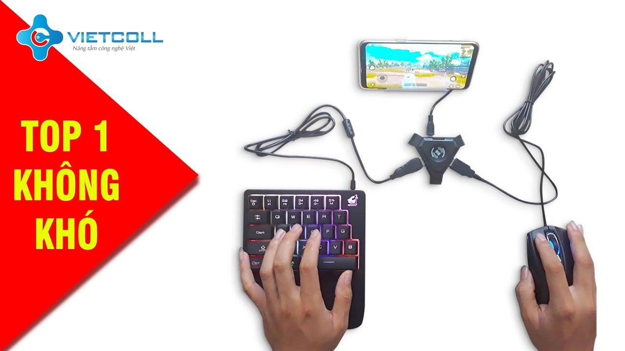 Dock bluetooth kết nối chuột và bàn phím với điện thoại chơi PUBG Mobile, Free Fire…