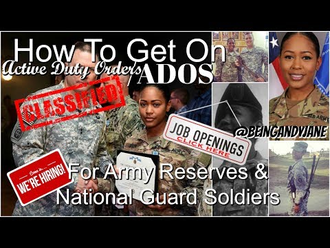 HOW TO GET ON ACTIVE DUTY ORDERS (USAR&NG) | Being Andy Jane