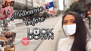 Melbourne Vlog : day before lockdown