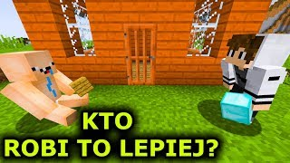 Minecraft: PRO vs NOOB !!! - KTO ZBUDUJE LEPSZĄ BUDOWLĘ ?