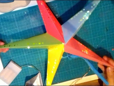 How To Make A Paper  Star Lantern, 🌟🌟 for Christmas /Decoration