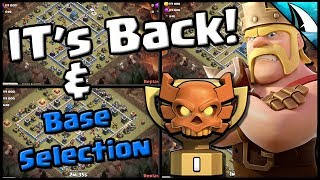 *IT'S BACK!!* CWL Champs I & Base Selection Th 12 | Clash of Clans
