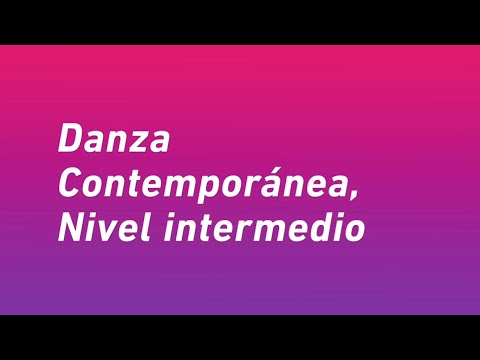 Danza Contemporánea - Nivel Intermedio