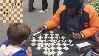 Washington Square Chess Hustling 5 - Cornbread and the Ugly Queen Sac!