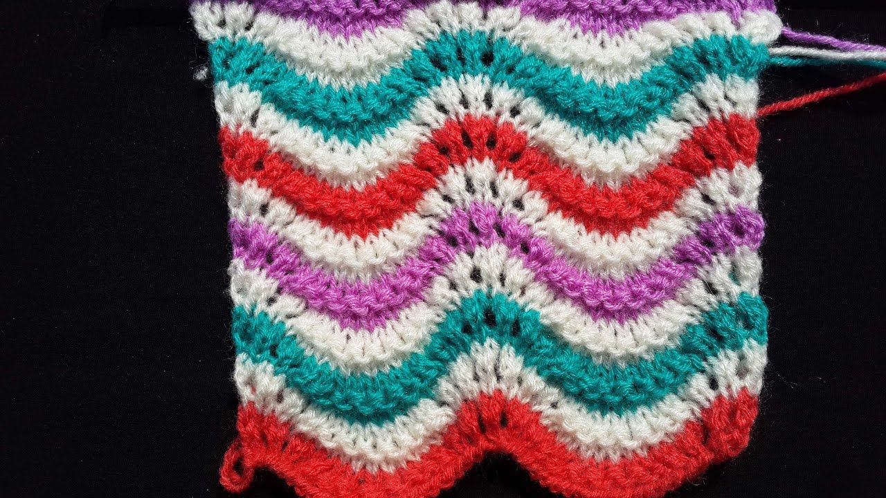 Multi Colour Design for Baby Sweater - YouTube