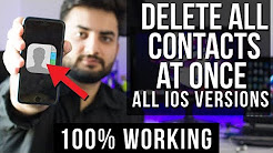 How To Delete All Contacts from iPhone 7, 6s, 6, 5 & 5s