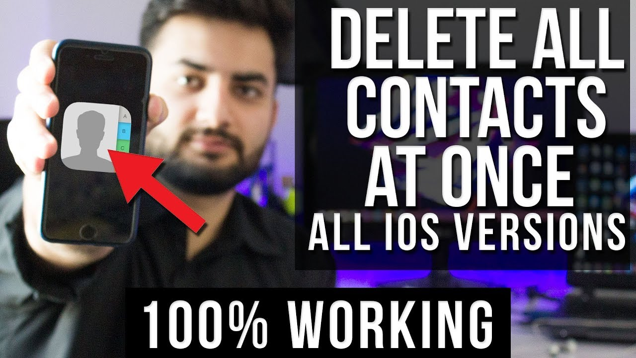How To Delete All Contacts from iPhone 8, 7, 6s, 6, 5 & 5s