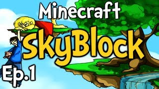 "Minecraft - SkyBlock Ep.1 "" I CAN'T MOVE!!! """