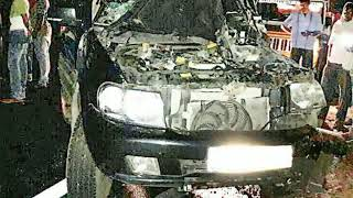 TATA safari accident car