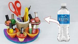 DIY Plastic Bottle Organiser   Best Out of Waste Plastic Bottle Jewellery Holder   StylEnrich