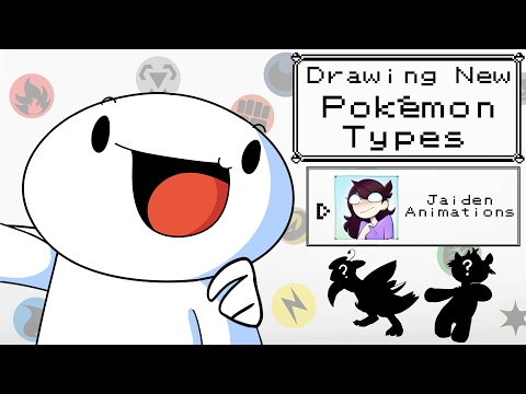 Thumbnail: Drawing New Pokemon Types w/Jaiden Animations