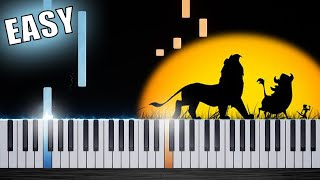 Hakuna Matata - EASY Piano Tutorial by PlutaX