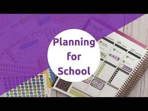 How I Plan for School in my Erin Condren Life Planner