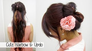 Transitional Hairstyles: Pretty Bow Half-do to Sophisticated Updo