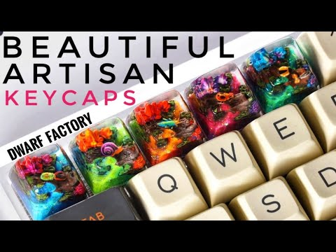 Artisan Resin Keycaps | Miracle Islands - Dwarf Factory
