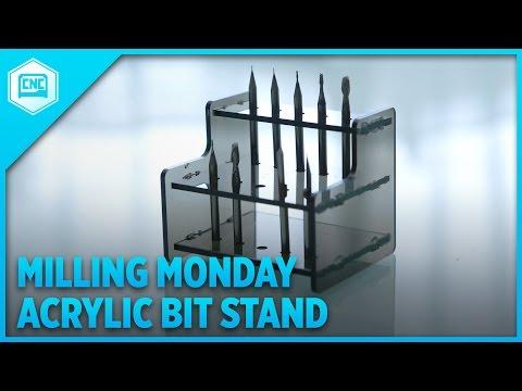 Acrylic Bit Stand @Othermachine #MillingMonday #CNC