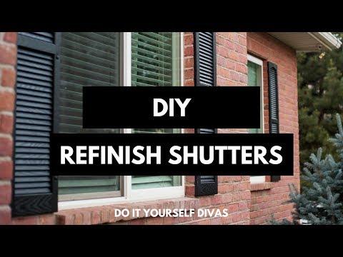 DIY Refinish Shutters
