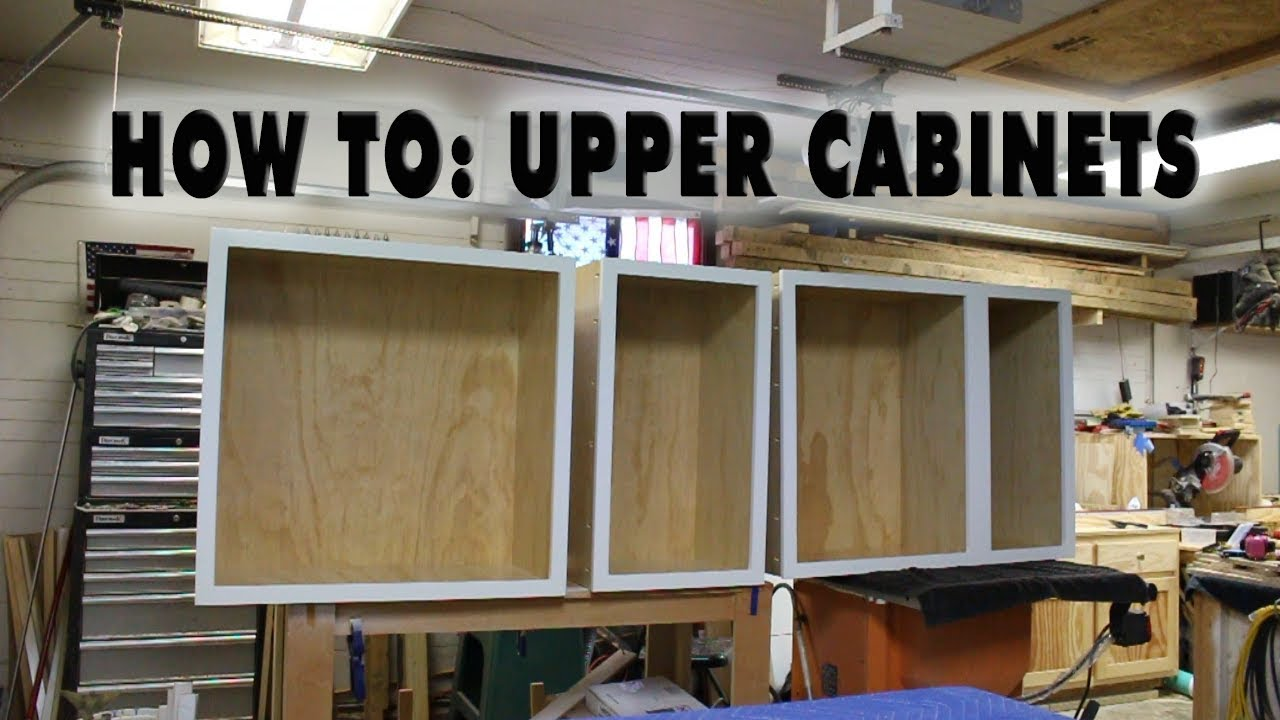 How To Build Upper Kitchen Cabinet Carcasses Diy Youtube