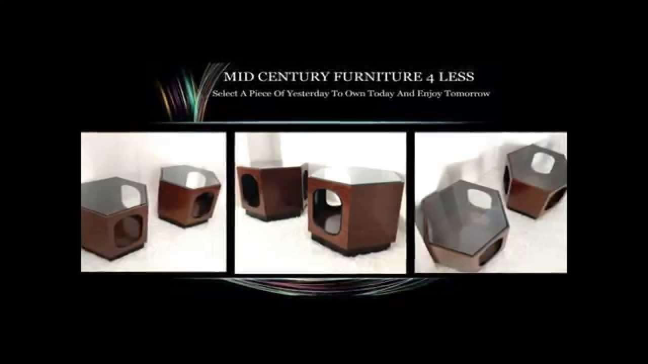 MID CENTURY FURNITURE 4 LESS.COM MODERN VINTAGE HEXAGON END TABLES
