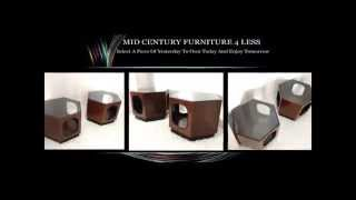 MID CENTURY FURNITURE 4 LESS.COM MODERN VINTAGE HEXAGON END TABLES